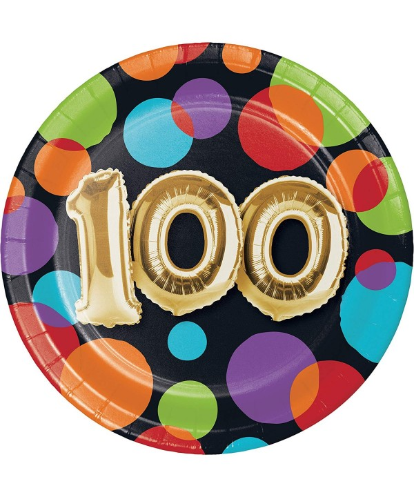 Balloon 100th Birthday Dessert Plates