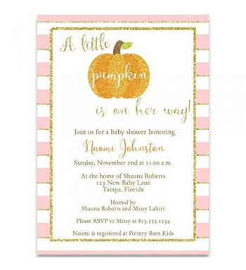 Invitation Sparkling Pumpkin Printed Envelopes