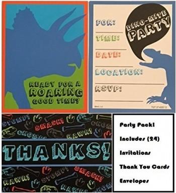 Dinosaur Invitations Cards envelopes Postcard