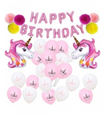 VSTON Decoration Unicorns Birthday Balloons