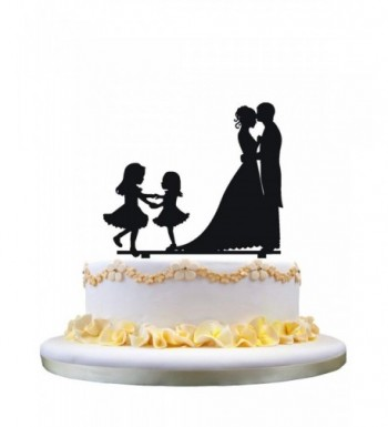 Bride Groom wedding topper silhouette