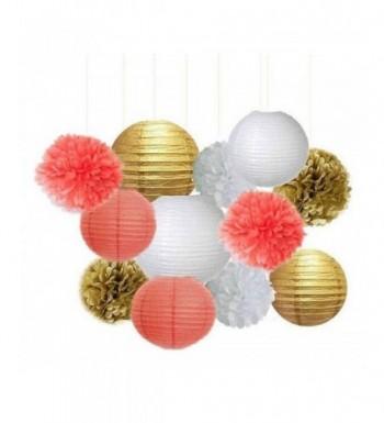 12pcs Mixed Coral Tissue Lantern