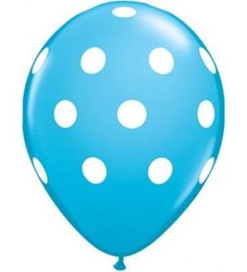 Light Blue Polka Balloons Pack