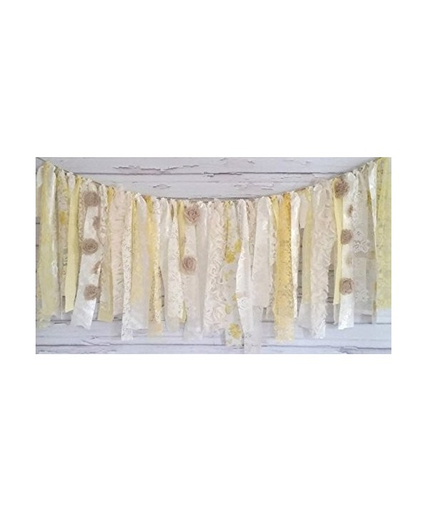 Yellow Garland Rag Tie Banner