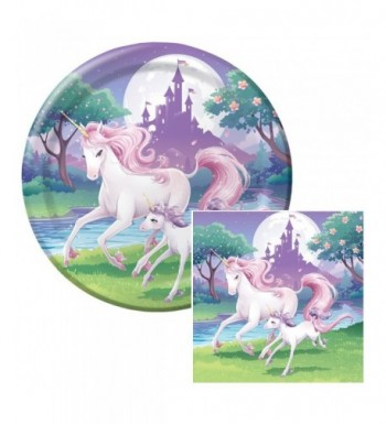 Unicorn Fantasy Birthday Napkins Plates