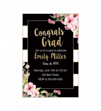 Invitations Graduation Party Floral Personalized