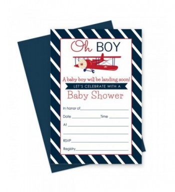 Airplane Baby Shower Invitations Envelopes