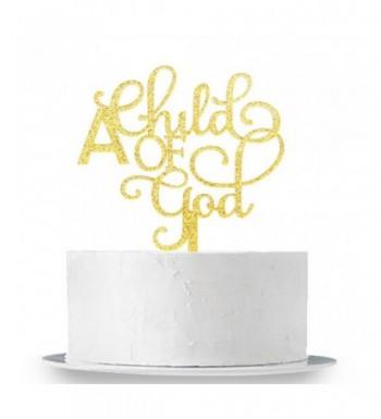 INNORU Gold Glitter Child Topper