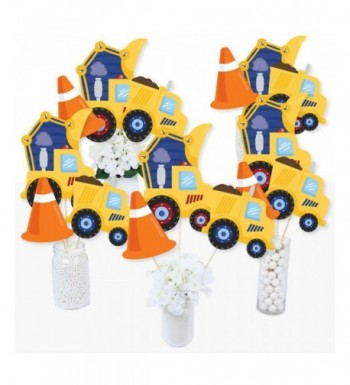 Construction Truck Birthday Centerpiece Toppers