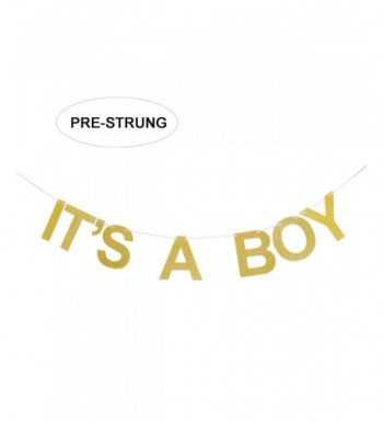 ITS BOY Gold Glitter Banner