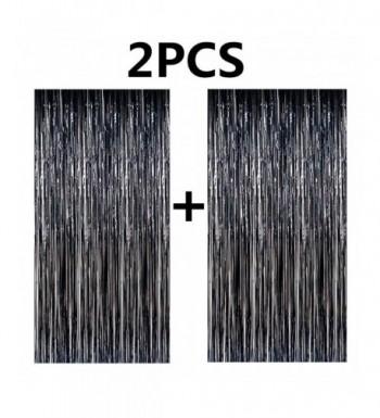 FECEDY Metallic Tinsel Curtains Decorations