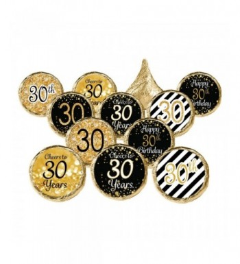 30th Birthday Party Favor Stickers
