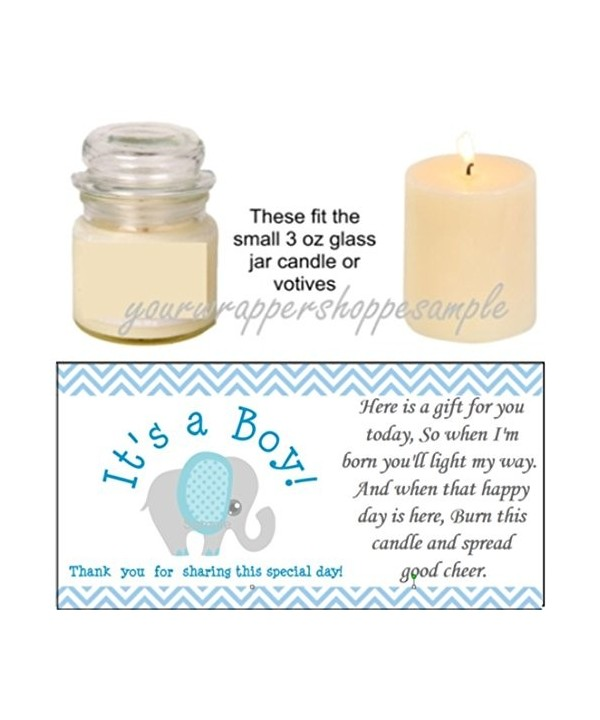 Elephant Shower Candle Party Labels