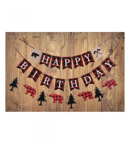 Lumberjack Birthday Banner Woodland Decoration