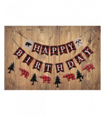 Lumberjack Birthday Banner Woodland Decoration