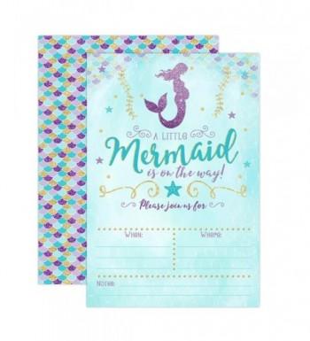 Mermaid Invitation Sprinkle Invitations Envelopes