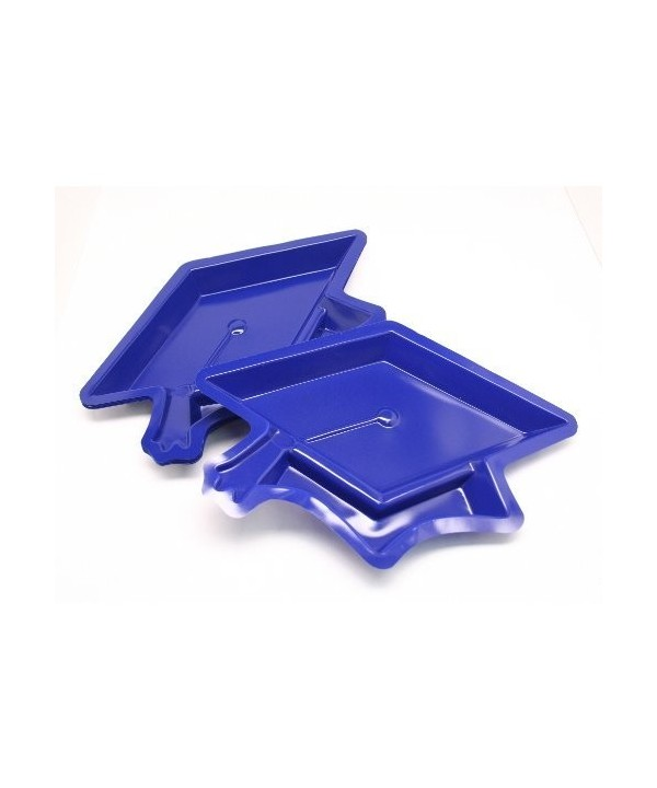Blue Graduation Cap Serving Dishes