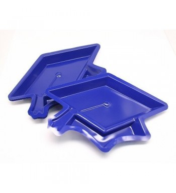 Blue Graduation Cap Serving Dishes