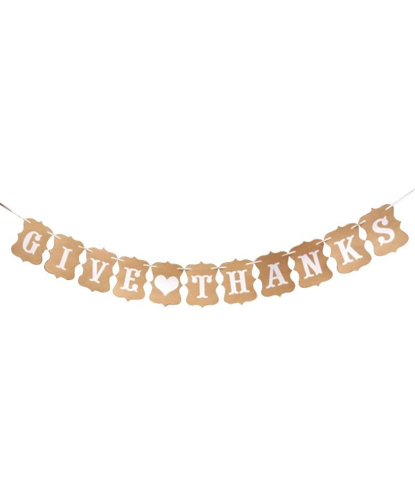 Give Thanks Heart Banner Style