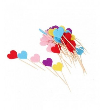 Tinksky Cupcake Toppers Supplies Valentines