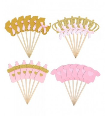 Jetec Pieces Cupcake Toppers Birthday