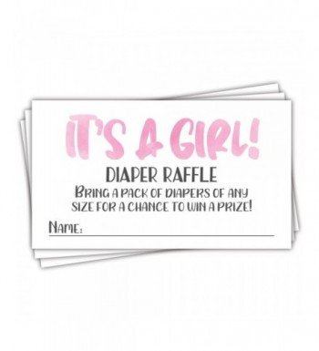 Pink Watercolor Diaper Raffle Tickets