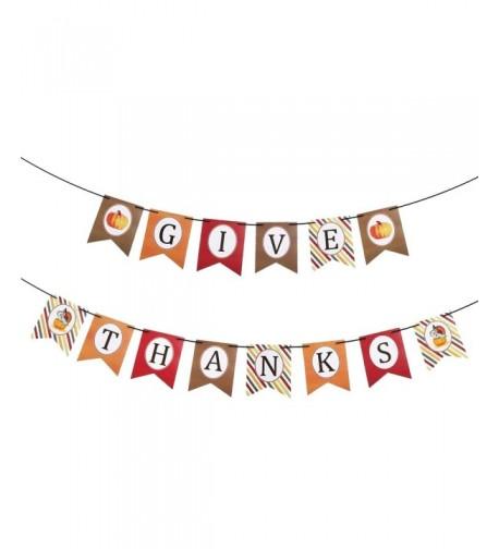 KatchOn Thanks Banner Stripe Style