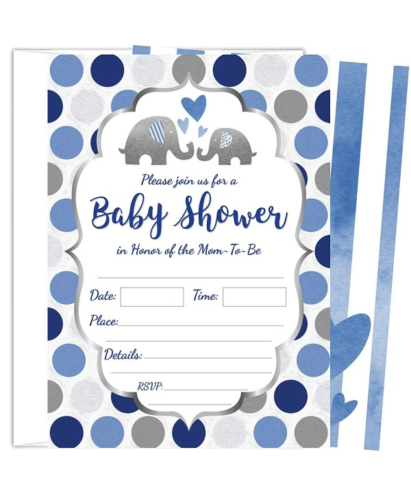 ZOLCO Prints Elephant Invitations Envelopes