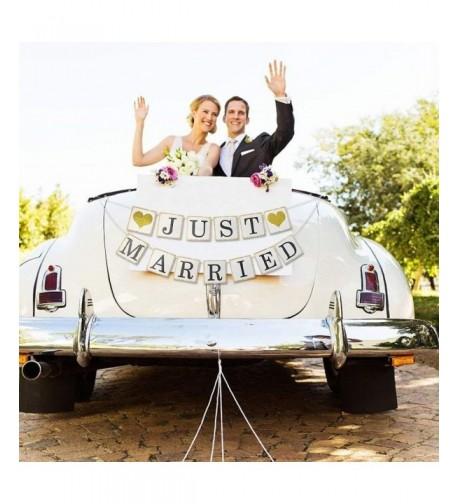 Married Glitter Garland Bachelorette Decorations