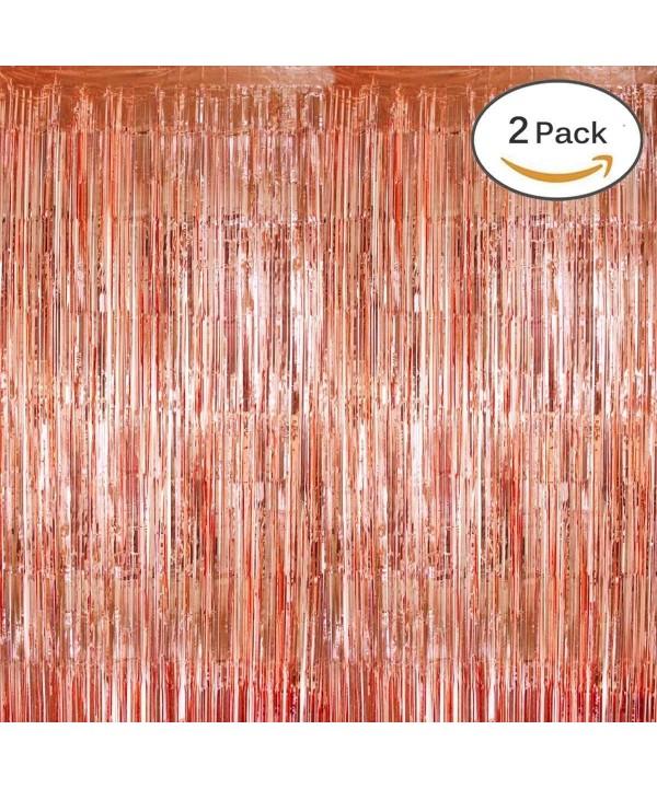 KUMEED Backdrop Curtains Metallic Photobooth