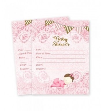 Baby Shower Girl Invitations count