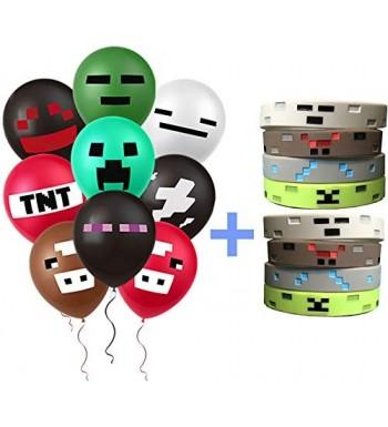 PartyFufu Mining Balloons Set Wristbands