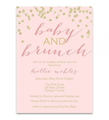 Invitations Champagne Confetti Glitter Envelopes