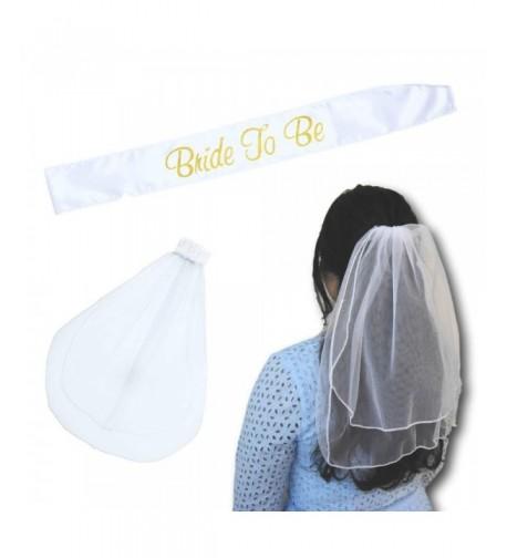 Bride Sash Veil Comb Set