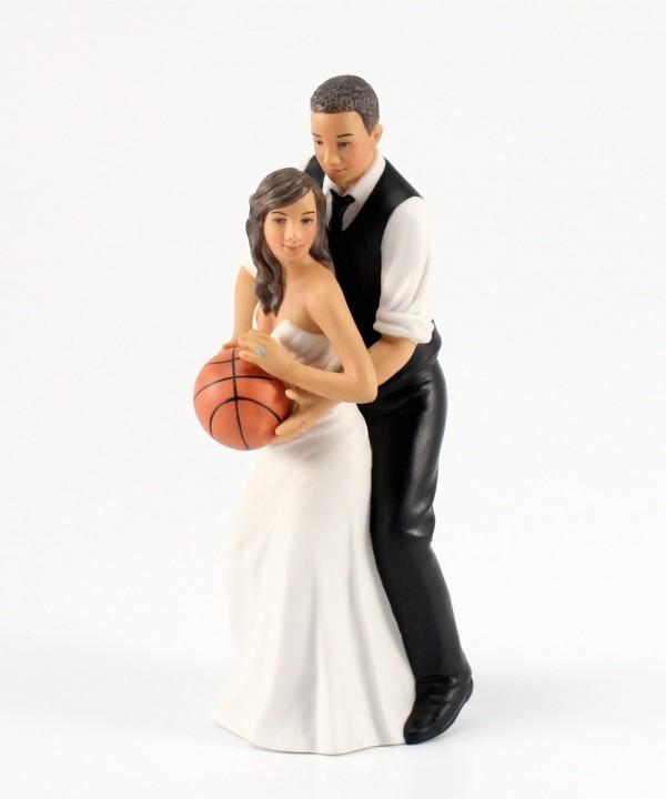 Weddingstar Basketball Couple Figurine Ethnic