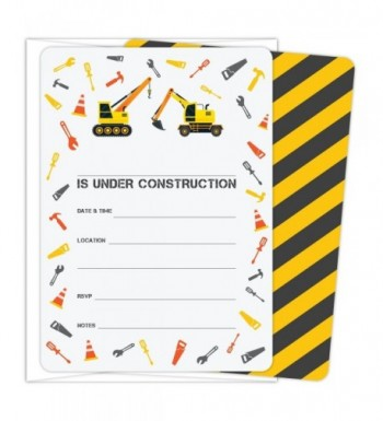 Koko Paper Co Construction Invitations