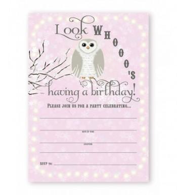 Snowy Birthday Invitations Invitations Envelopes