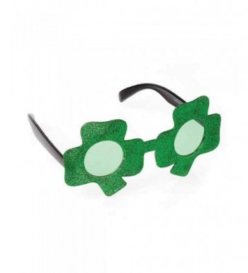 Patricks Shamrock Shaped Glitter Sunglasses