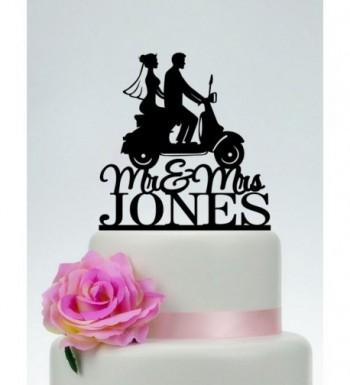 Wedding Scooter Silhouette Anniversary Present