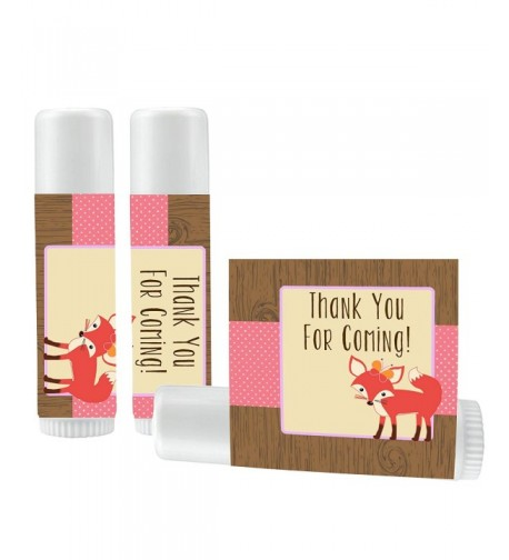 Fox Lip Balm Favors Girl
