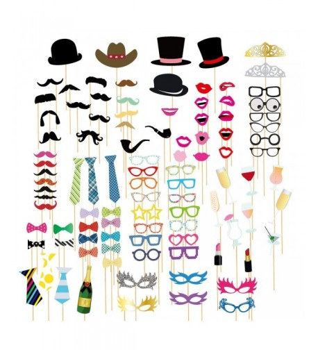 100 Pack Photo Booth Props Anniversaries