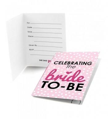 Bride Be Fill Bachelorette Invitations