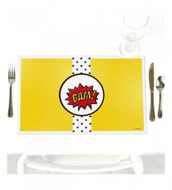BAM Superhero Decorations Birthday Placemats