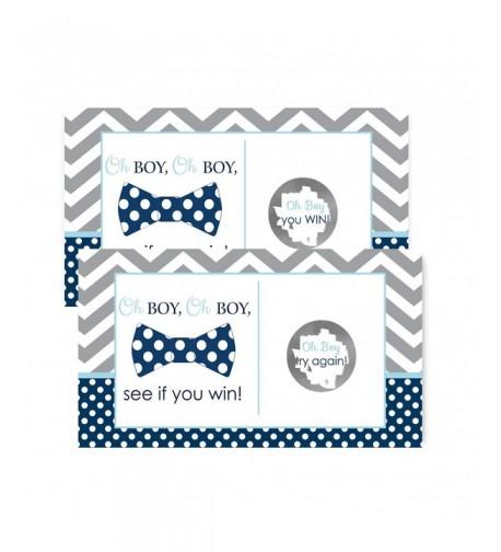 Baby Shower Scratch Cards Chevron