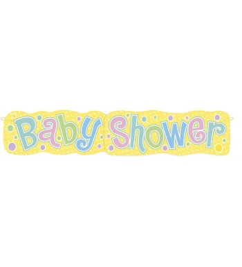4 5ft Jointed Baby Shower Banner
