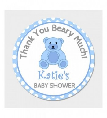 Personalized Teddy Baby Shower Stickers