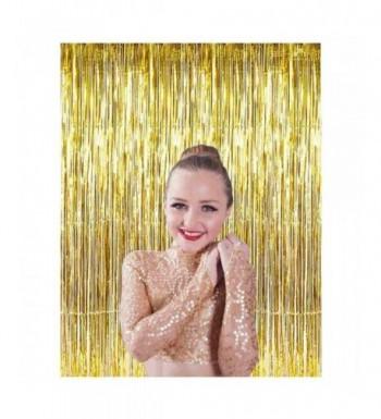 ShiDianYi 3FTx8FT Gold Foil Fringe Curtain Foil