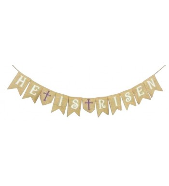 Risen Burlap Banner Decoration Decorations