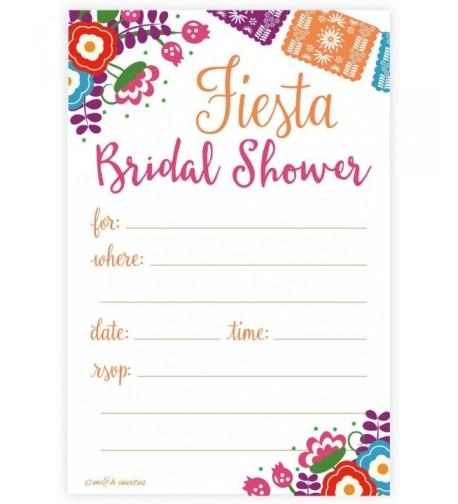Fiesta Bridal Shower Invitations Envelopes