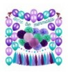 Tatuo Supplies mermaids Balloons Decorations